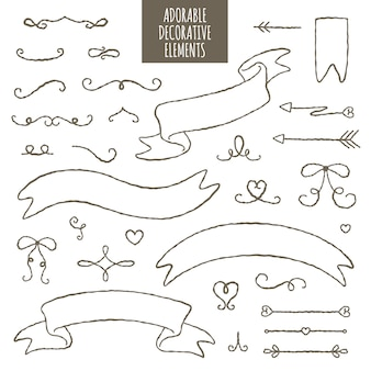Adorable decorative elements