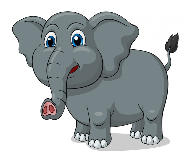 Adorable elephant cartoon