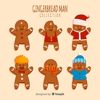 Adorable gingerbread man collection