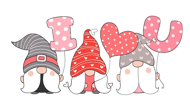 Adorable gnomes for valentine's day.