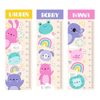 Adorable height meter collection
