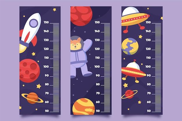 Adorabile collezione di misuratori di altezza