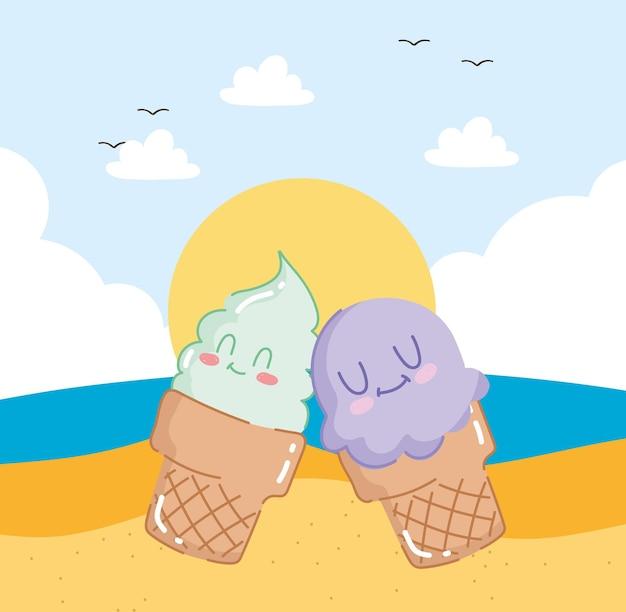 Adorable ice creams