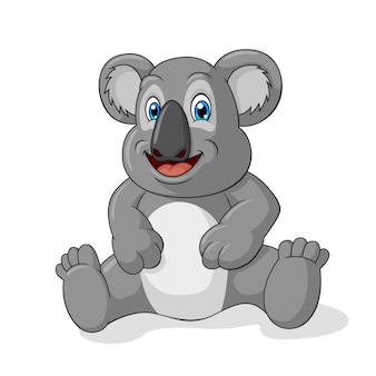 Adorable koala cartoon