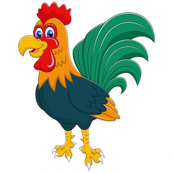 Adorable rooster cartoon illustration