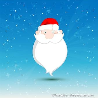 очаровательны бородой Санта-открытку