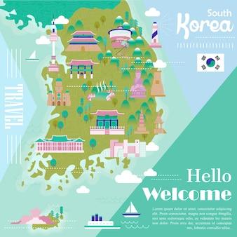 다채로운 명소가 있는 사랑스러운 한국 여행지도