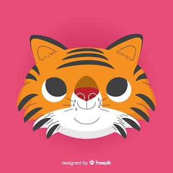 Adorable tiger background