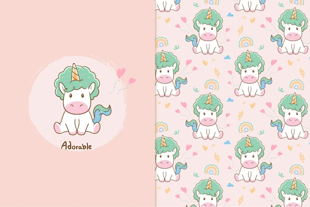 Adorable unicorn  pattern