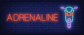 Adrenaline neon style banner