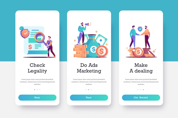 Ads marketing onboarding page