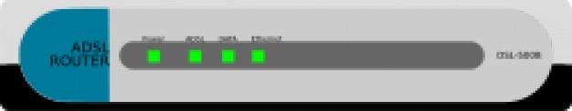 Adsl回線- 500bをルータ