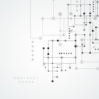 기하학적 선과 점 패턴을 흡수합니다. 현대 네트워크 기술 배경