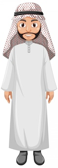 Adult man arab wearing arab costume character