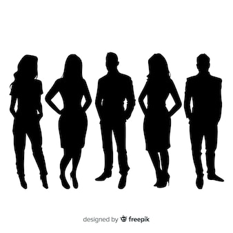 Adult people silhouettes background
