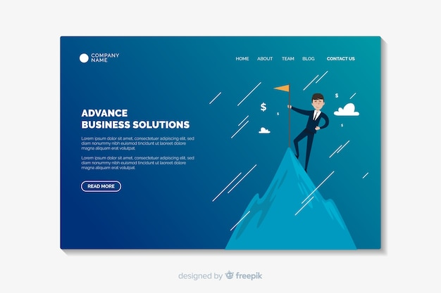 Advance business landing page template
