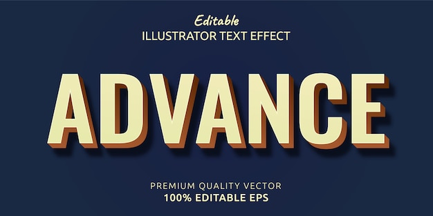 Advance editable text style effect