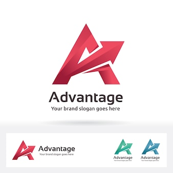 Логотип advantage letter a
