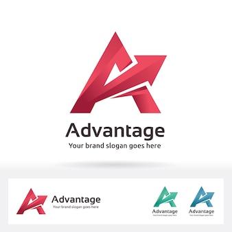 Advantage letter a logo