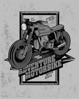 Advanture motorbike, street motorcycle illustration