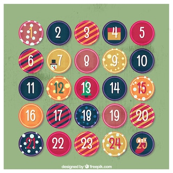 Advent calendar of abstract circles
