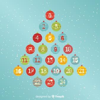 Advent calendar balls
