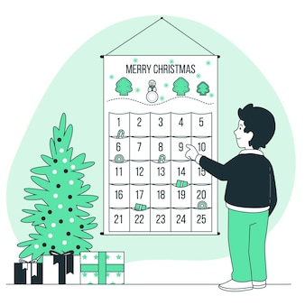 Advent calendar concept illustration
