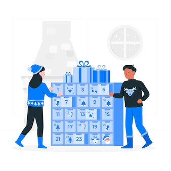 Advent calendarconcept illustration