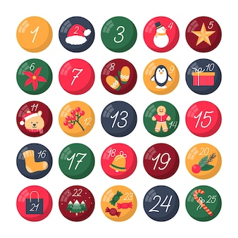 Advent calendar in flat design