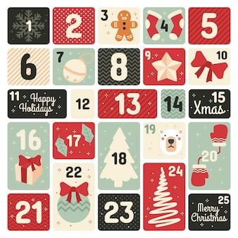 Advent calendar in flat design