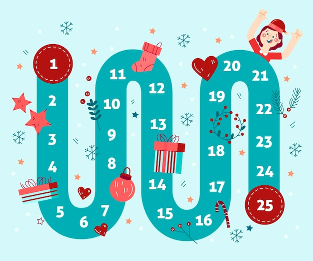 Advent calendar hand drawn illustrations