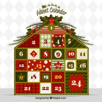 Advent calendar house shaped