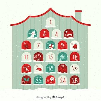 Advent calendar house