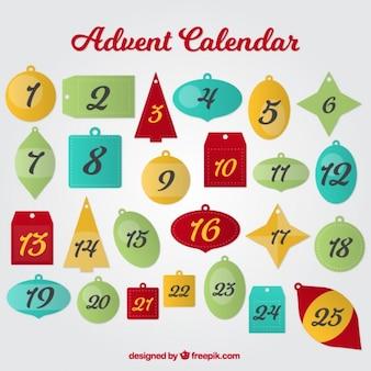 Advent calendar of ornaments