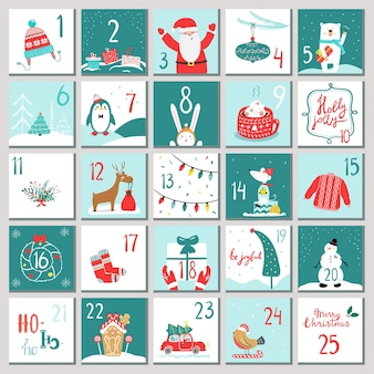 Advent calendar for opening on holidays