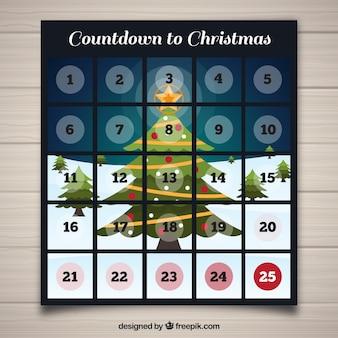 Календарь приключений с елкой