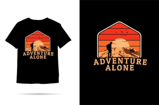 Adventure alone silhouette tshirt design