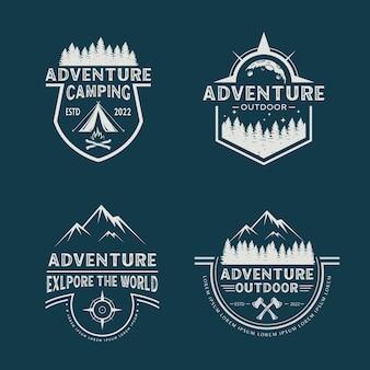 冒険と山のロゴデザインコレクション