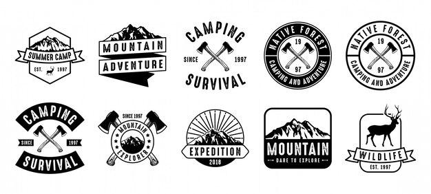 Adventure badge and logo set