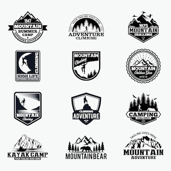 Adventure badges and logo
