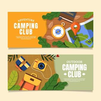Set di banner di avventura