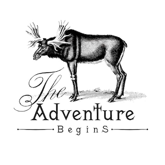 The adventure begins logo design vector