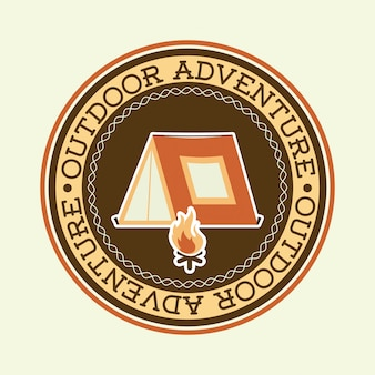 Adventure design over white background vector illustration