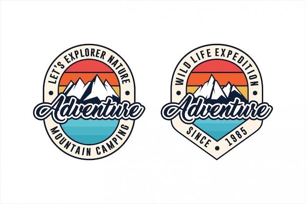 Adventure expedition   set logo