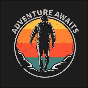 Adventure flat  illustration