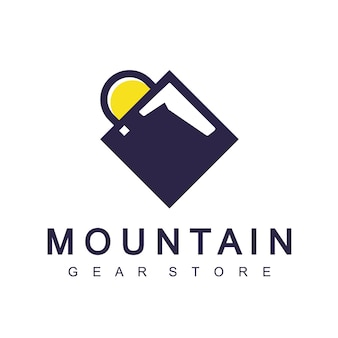 Adventure gear store logo design template