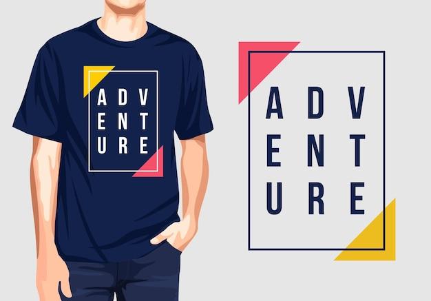 Приключенческий графический дизайн футболки