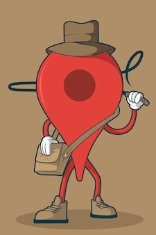 Adventure icon illustration.