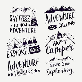 Adventure is calling lettering collection
