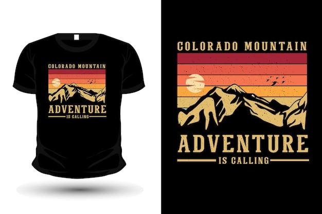 Adventure is calling merchandise silhouette t shirt design retro style